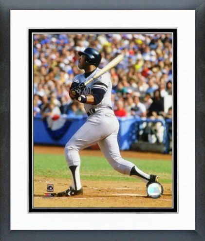 New York Yankees Bob Watson 1981 Batting Action Framed Photo