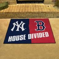 New York Yankees/Boston Red Sox House Divided Mat