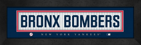 "New York Yankees ""Bronx Bombers"" Stitched Jersey Framed Print"