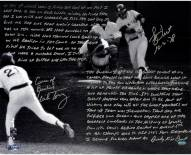 """New York Yankees Bucky Dent & Mike Torrez 1978 AL East tie-breaker game w/""""Curse of the Bambino"""" Signed 16"""" x 20"""" Photo"""