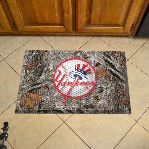 New York Yankees Camo Scraper Door Mat