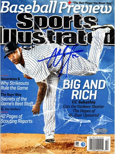 New York Yankees CC Sabathia Signed 4/1/13 Sports Illustrated Magazine