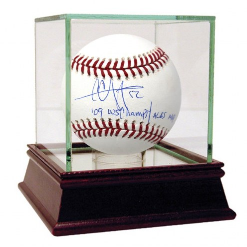 New York Yankees CC Sabathia Signed 9 Inscription 2009 Stat MLB Baseball