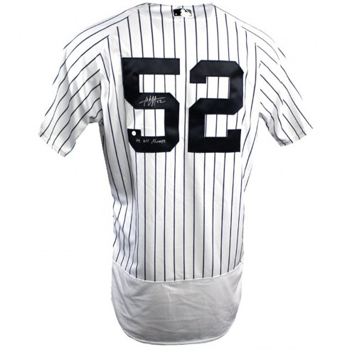 New York Yankees CC Sabathia Signed Authentic Flex Base Home Pinstripe Jersey w/ 09 WS Champs