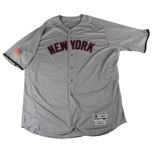 New York Yankees CC Sabathia Signed Game Issued #52 Stars and Stripes Grey Jersey (7/2/2017)