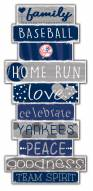 New York Yankees Celebrations Stack Sign