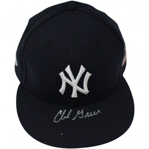 New York Yankees Chad Green Signed 2017 Team Issued #57 9/11 Game Hat
