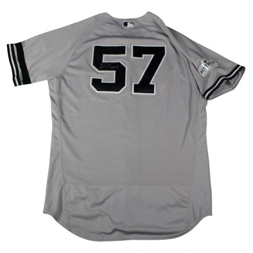 New York Yankees Chad Green Signed Game-Issued #57 Road Postseason Jersey