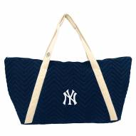 New York Yankees Chevron Stitch Weekender Bag