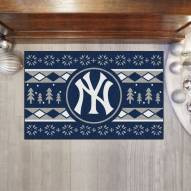 New York Yankees Christmas Sweater Starter Rug