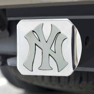 New York Yankees Chrome Metal Hitch Cover