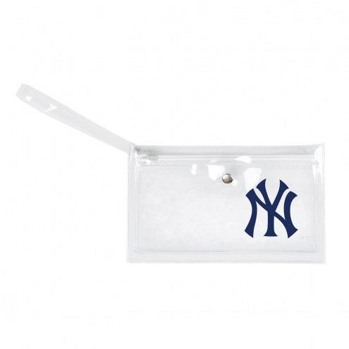 New York Yankees Clear Ticket Wristlet