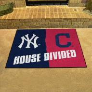 New York Yankees/Cleveland Indians House Divided Mat