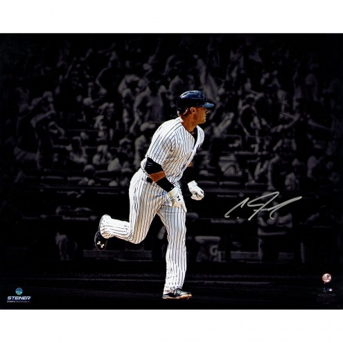 New York Yankees Clint Frazier Signed 1st Career Walk Off 16 x 20 Photo