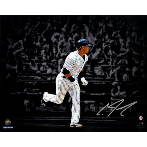 New York Yankees Clint Frazier Signed 1st Career Walk Off 8 x 10 Photo