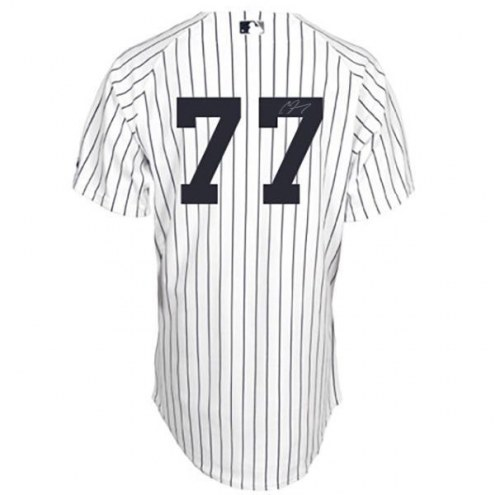 New York Yankees Clint Frazier Signed Authentic Flex Base Pinstripe Jersey