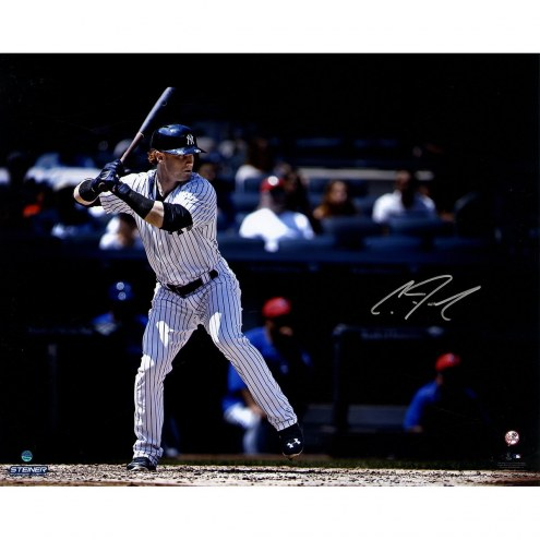 New York Yankees Clint Frazier Signed Batting 16 x 20 Photo