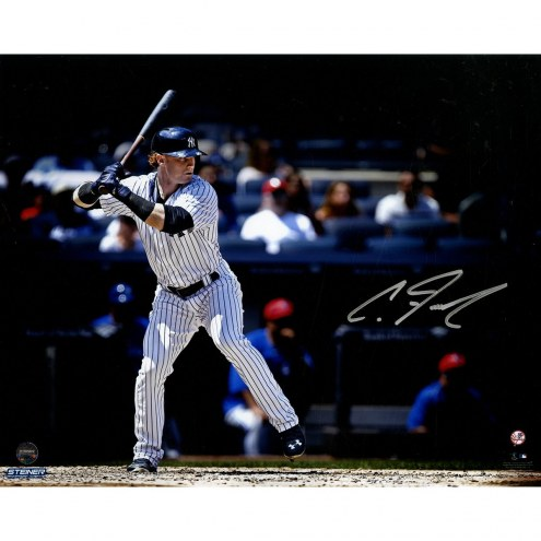 New York Yankees Clint Frazier Signed Batting 8 x 10 Photo