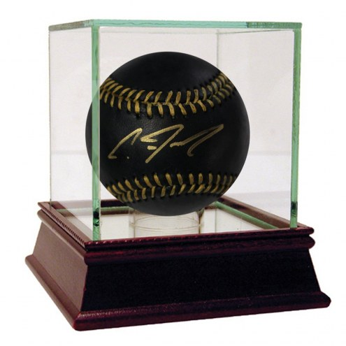 New York Yankees Clint Frazier Signed Rawlings Official Black Leather MLB Baseball