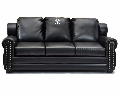 New York Yankees Coach Leather Sofa