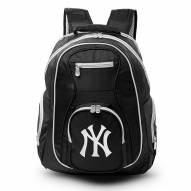 MLB New York Yankees Colored Trim Premium Laptop Backpack