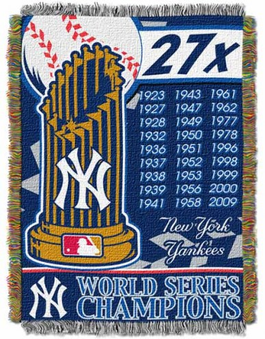 New York Yankees Commemorative Throw Blanket
