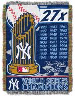 New York Yankees Commemorative Throw Blanket