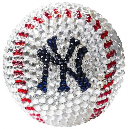 New York Yankees Swarovski Crystal Baseball