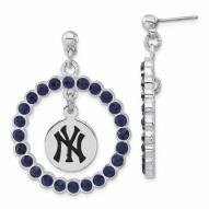 New York Yankees Crystal Logo Wreath Earrings