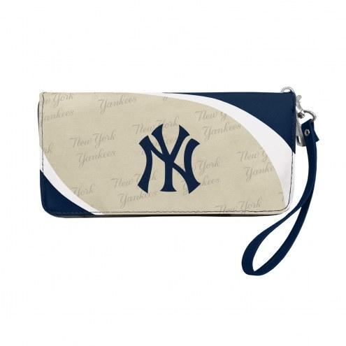 New York Yankees Curve Zip Organizer Wallet