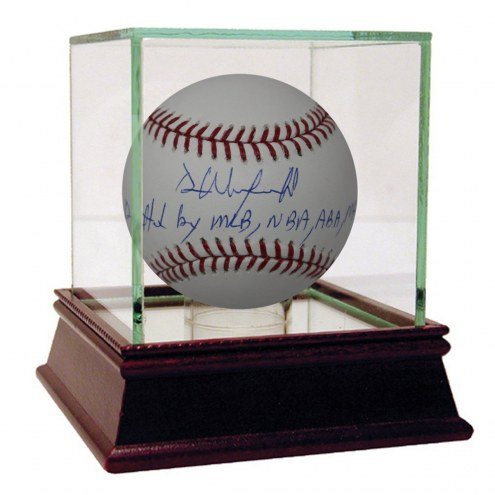 """New York Yankees Dave Winfield Signed MLB Baseball w/ """"Drafted by MLB NBA ABA NFL"""""""