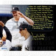 """New York Yankees David Wells Perfect Game Story Signed 16"""" x 20"""" Photo"""