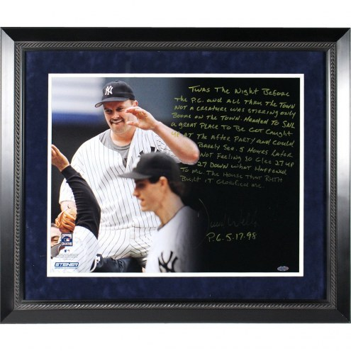 New York Yankees David Wells Signed and Framed Perfect Game 16 x 20 Story Photo