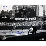 """New York Yankees Don Larsen Perfect Game First Pitch w/ 11 Signed 16"""" x 20"""" Photo"""