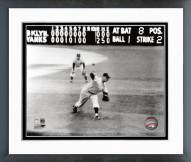 New York Yankees Don Larsen Perfect Game Last Pitch Framed Photo