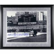 New York Yankees Don Larsen Signed and Framed Perfect Game First Pitch 16 x 20 Photo