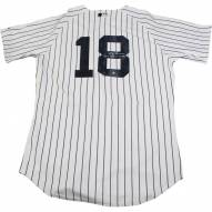 New York Yankees Don Larsen Signed Authentic Home Pinstripe Jersey w/ WS PG 10-8-56