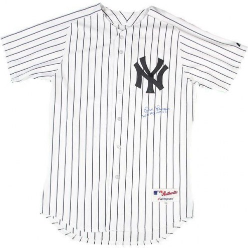 New York Yankees Don Larsen Signed Authentic Home Pinstripe Jersey w/ WSPG 10-8-56