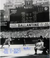 New York Yankees Don Larsen Signed PG First Pitch Vertical 20 x 24 w/ Perfect Game Lineup