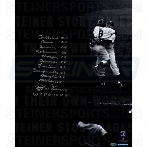 New York Yankees Don Larsen Signed World Series Perfect Game 16 x 20 Photo w/ Box Score