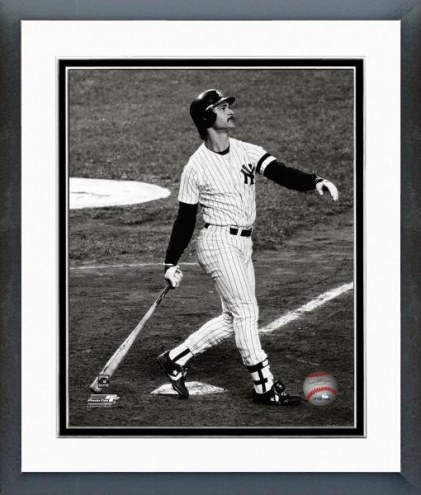 New York Yankees Don Mattingly 1986 Action Framed Photo