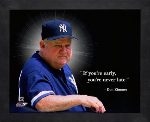 New York Yankees Don Zimmer Framed Pro Quote