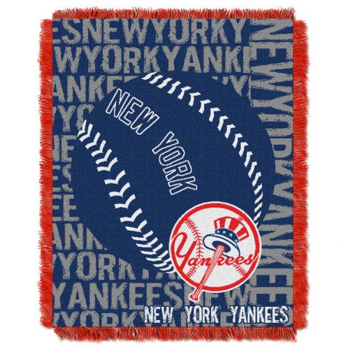 New York Yankees Double Play Jacquard Throw Blanket