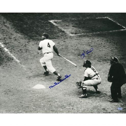 """Duke Snider/Yogi Berra Duke at Bat Signed 16"""" x 20"""" Photo"""