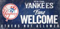 New York Yankees Fans Welcome Sign
