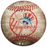 New York Yankees Baseball Shaped Sign