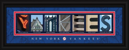 New York Yankees Framed Letter Art