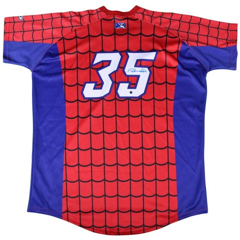 New York Yankees Gary Sanchez Signed #35 Game Used Trenton Thunder Alternate Spiderman Jersey