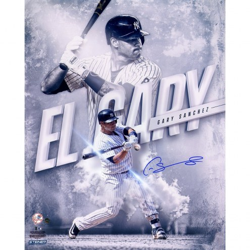 New York Yankees Gary Sanchez Signed El Gary 16 x 20 Photograph