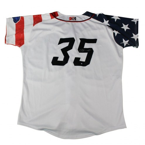 New York Yankees Gary Sanchez Signed Game Used 2015 Trenton 4th of July Jersey